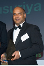 Raz with NTA winner's trophy